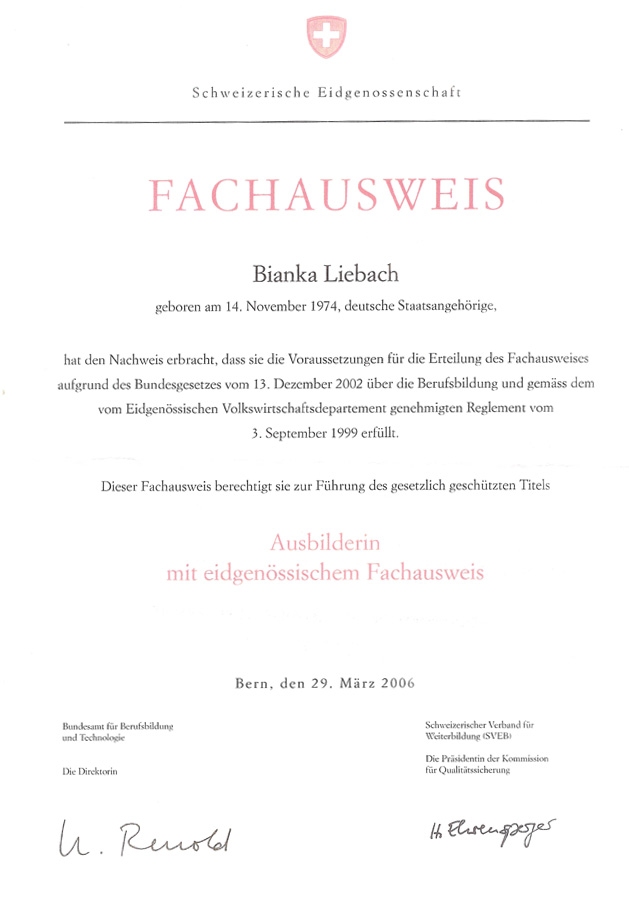 Swiss Diploma for Adult Education
